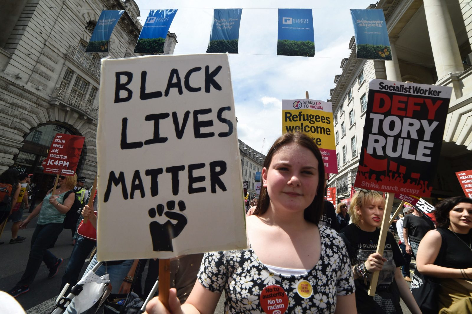 """Black Lives Matter""-Demonstration in England Foto: picture alliance / NurPhoto"