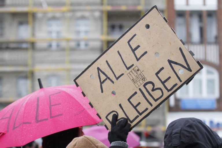 Proteste gegen die Abschiebung von Asylbewerbern (Archivbild) Foto: picture alliance/ZUMA Press