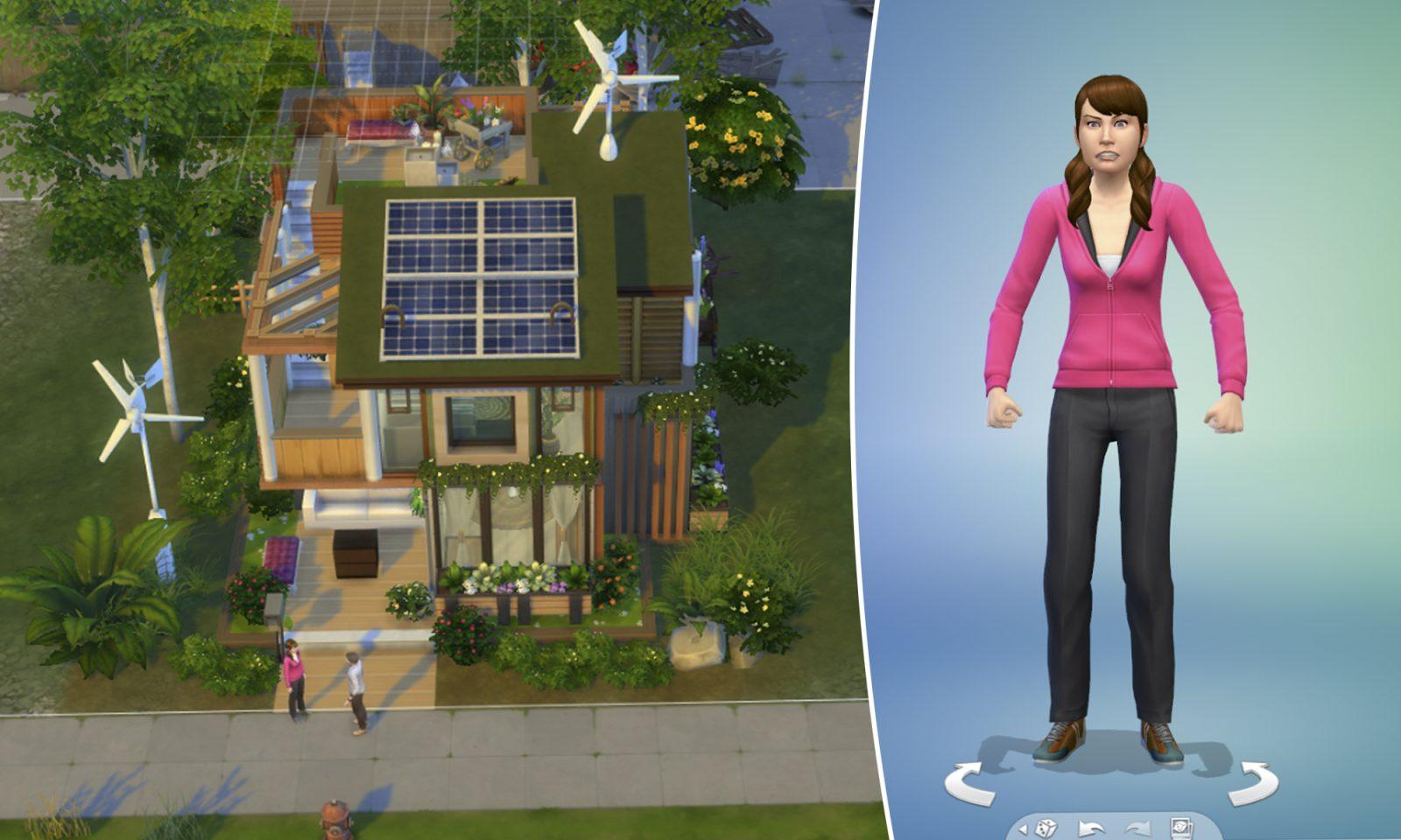 """""""Sims 4 – Nachhaltig leben"""": Traum für """"Fridays for Future""""-Anhänger Fotos: Screenshots JF"""