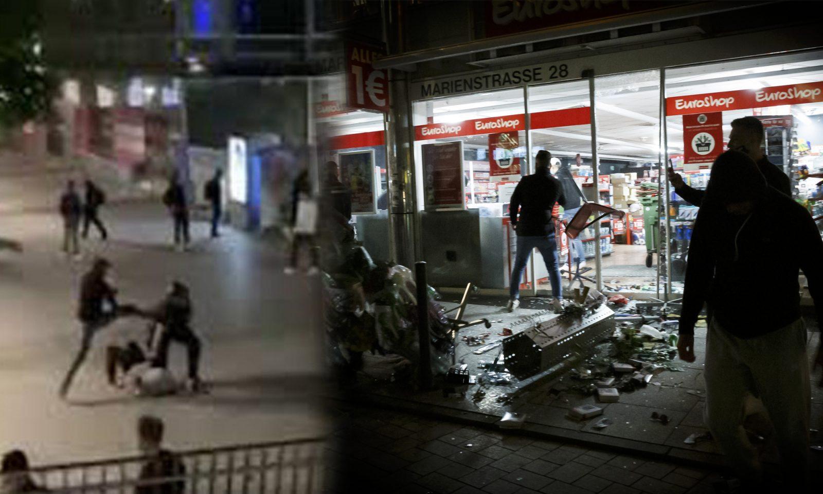 Stuttgarter Krawallnacht Fotos: Twitter-Screenshot picture alliance/Julian Rettig/dpa / JF-Montage
