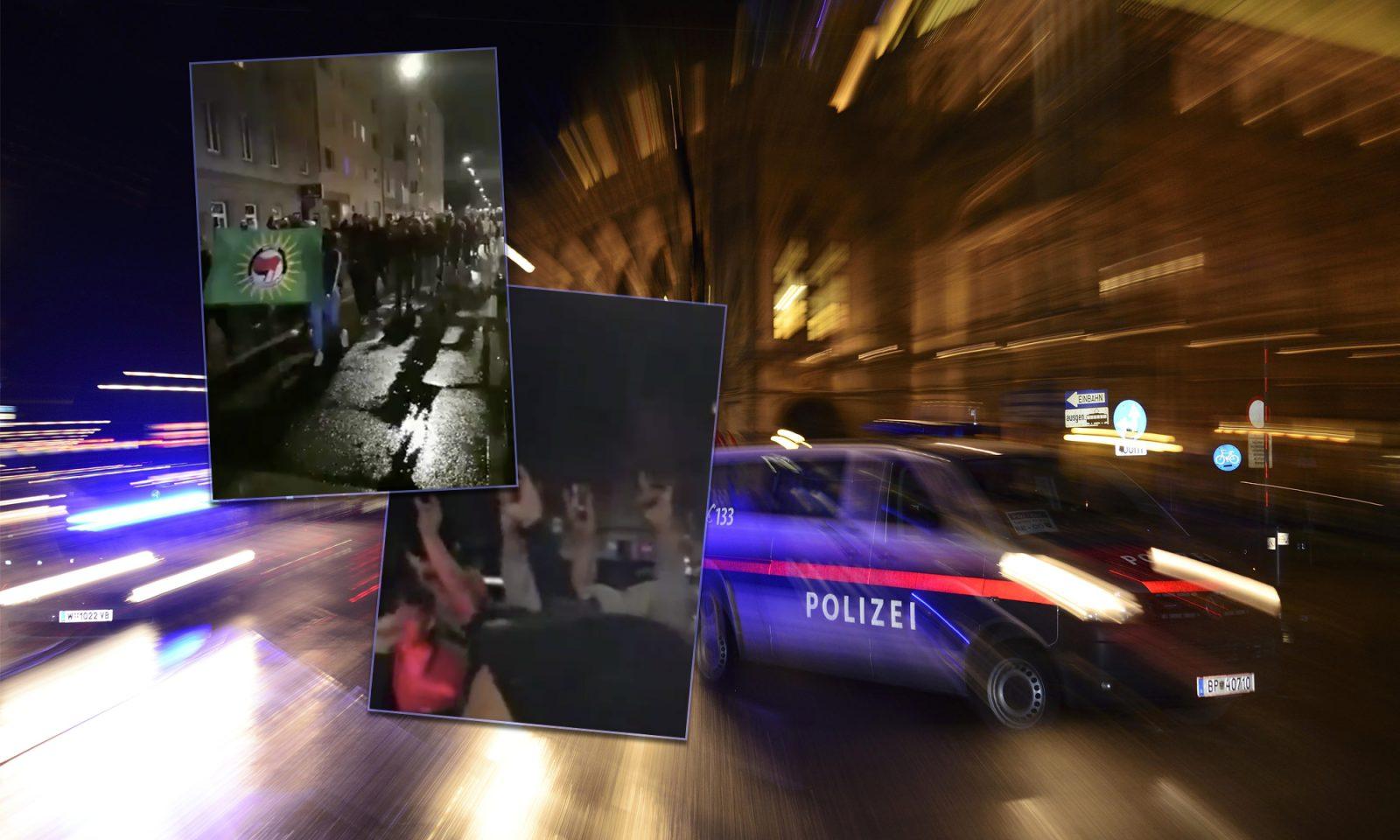 Auseinandersetzungen zwischen Türken, Kurden und Linksradikalen in Wien Fotos: picture alliance/imageBROKER / Twitter-Screenshots / JF-Montage