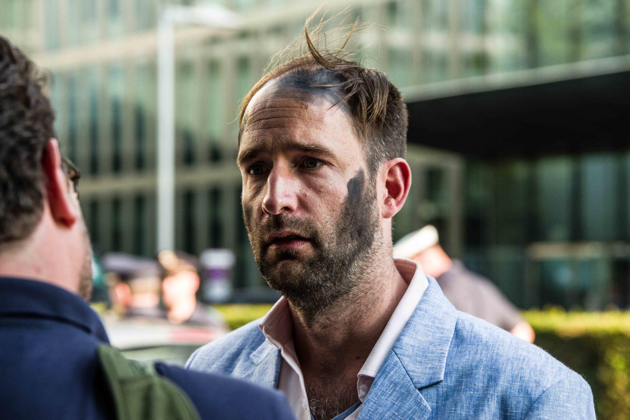 Der Kopf des Zentrums für politische Schönheit, Philipp Ruch, muß keine Konsequenzen wegen der Holocaust-Säule fürchten Foto: picture alliance/ZUMA Press