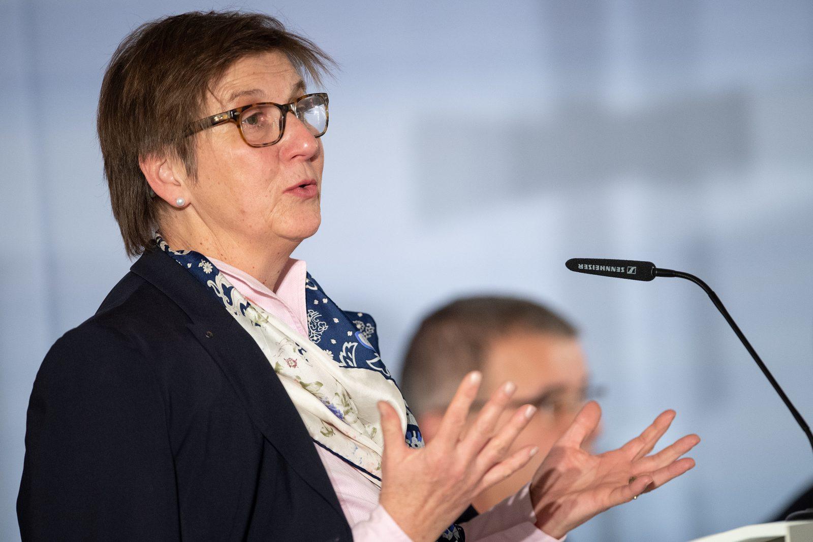 Die Vizepräsidentin des Zentralkomitees der deutschen Katholiken, Claudia Lücking-Michel, befürwortet die Frauenquote in der CDU Foto: picture alliance/Marius Becker/dpa