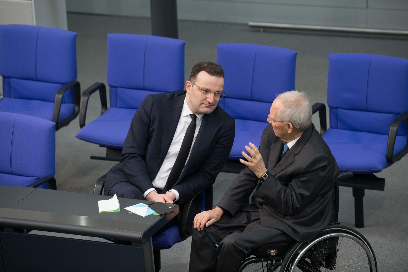 Jens Spahn (l.) und Wolfang Schäuble (beide CDU)