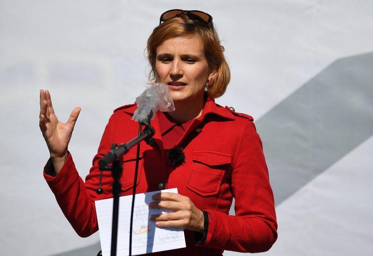 Die Vorsitzende der Linkspartei, Katja Kipping, fordert die vier-Tage-Woche Foto: picture alliance/Britta Pedersen/dpa-Zentralbild/dpa