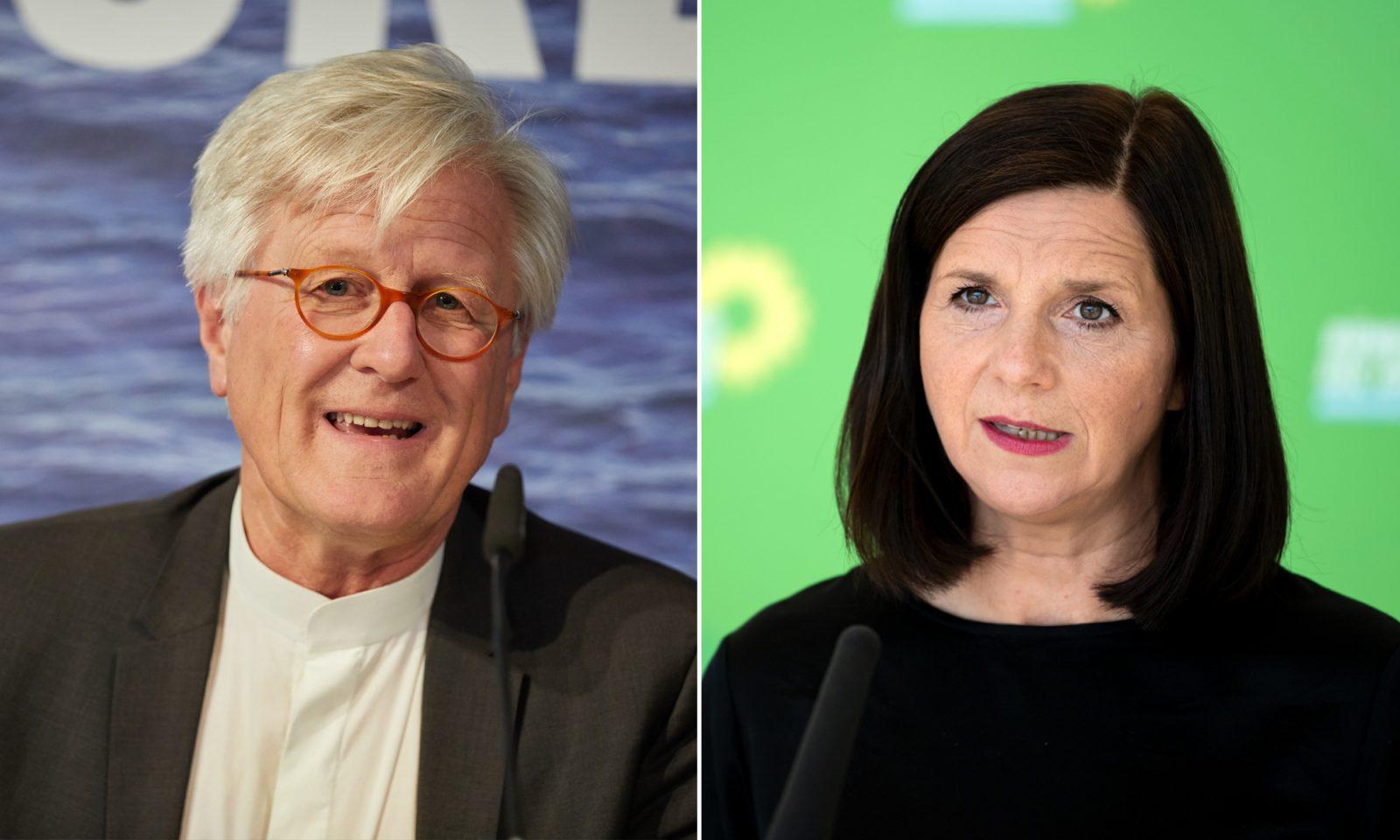 Katrin Göring-Eckardt (Grüne) und Heinrich Bedford-Strohm