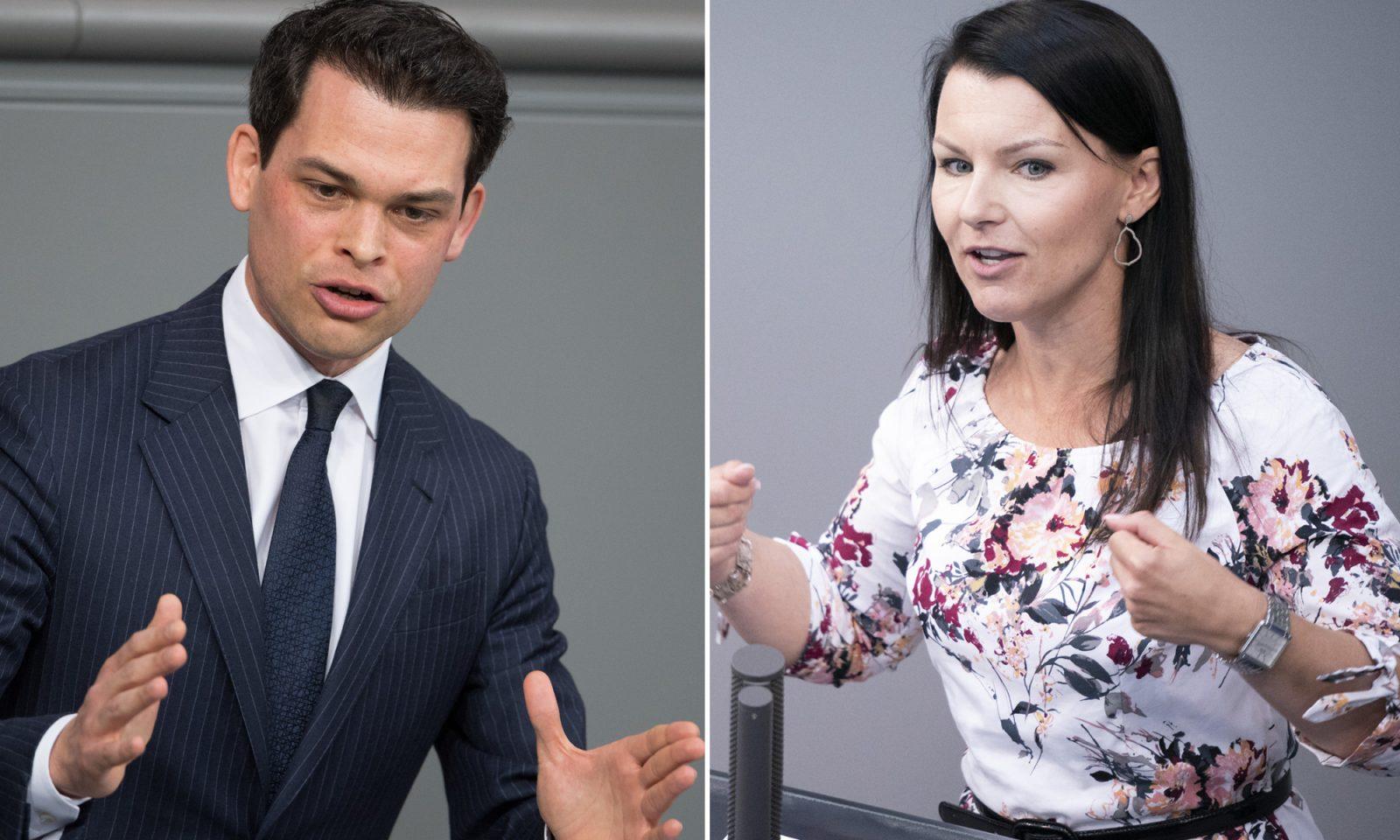Christoph Ploß und Jana Schimke (beide CDU): Stellen sich gegen Frauenquote Foto: picture alliance / Soeren Stache/dpa / JF-Montage