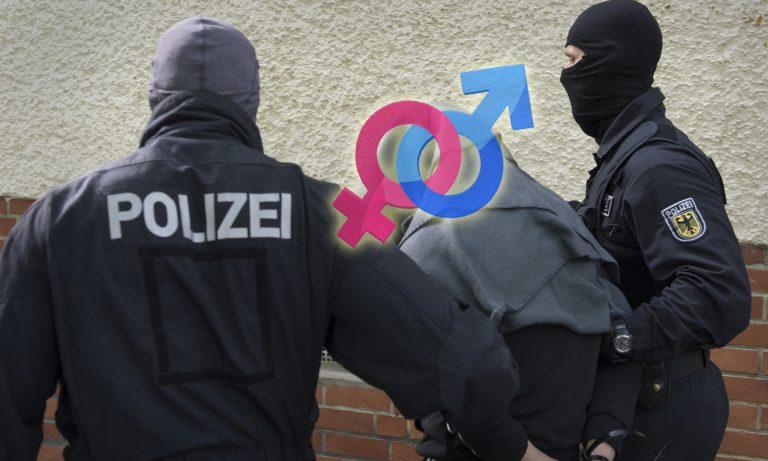 Straftäter beziehungsweise Straftäterin bei der Festnahme (Archivbild) Fotos: dpa / Pixabay / JF-Montage