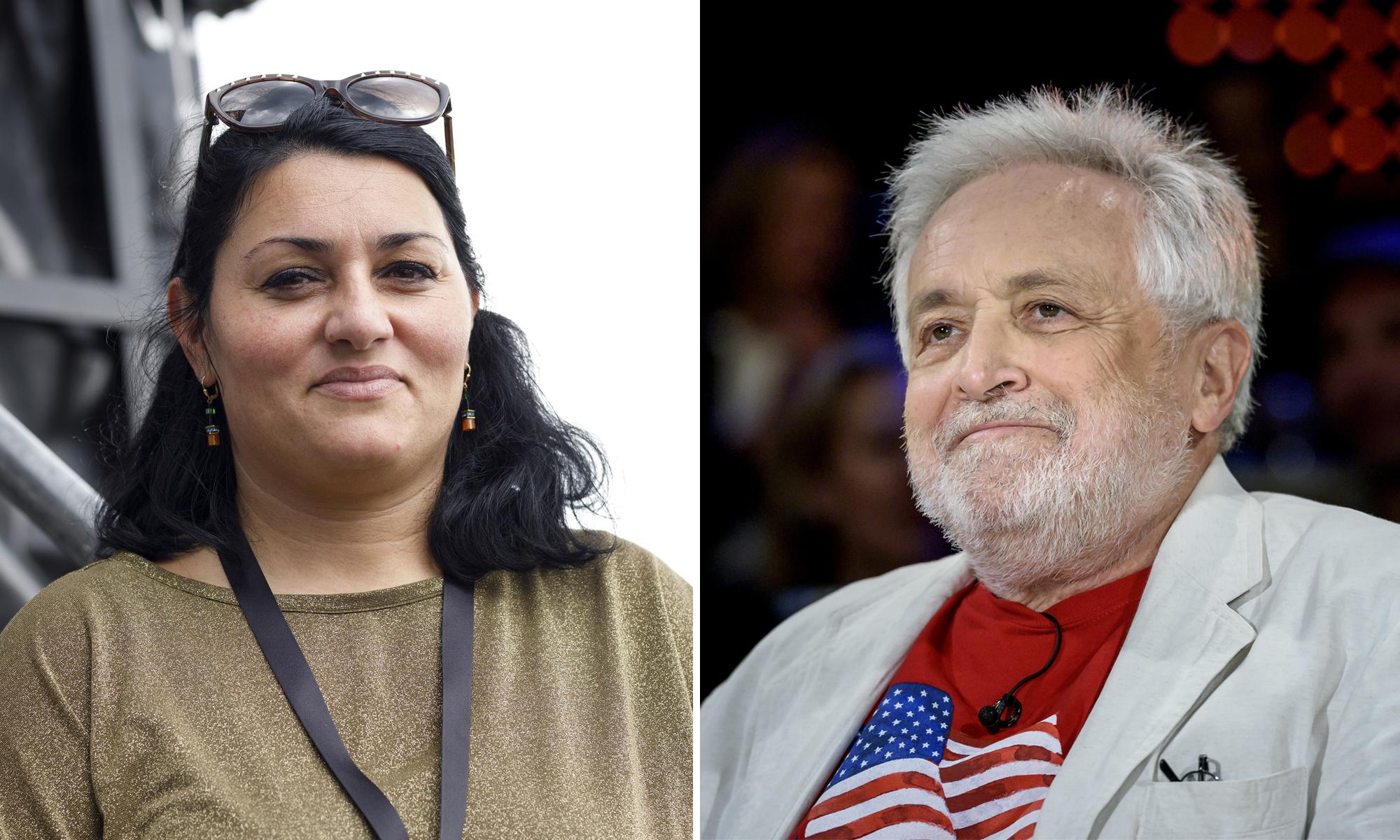 Lamya Kaddor und Henryk M. Broder Fotos: picture alliance/Geisler-Fotopress / dpa / JF-Montage
