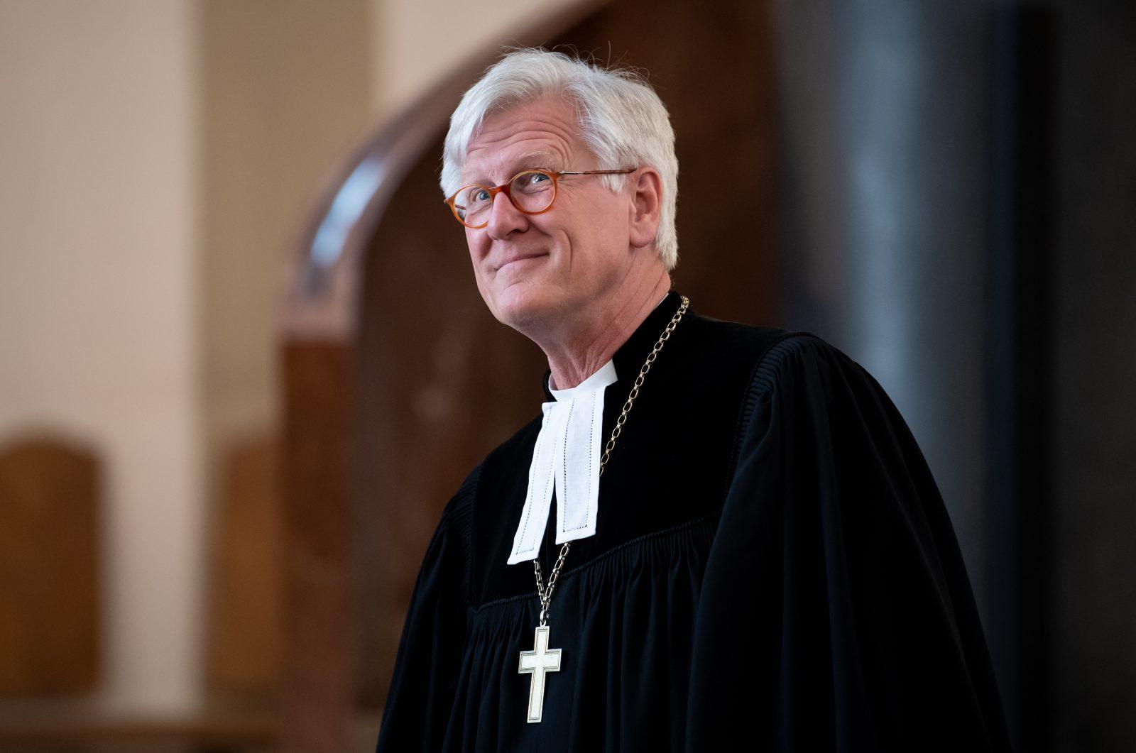 Der Ratsvorsitzende der Evangelischen Kirche in Deutschland, Heinrich Bedford-Strohm, freut sich über Zuspruch zur Flüchtlingspolitik Foto: picture alliance/Sven Hoppe/dpa