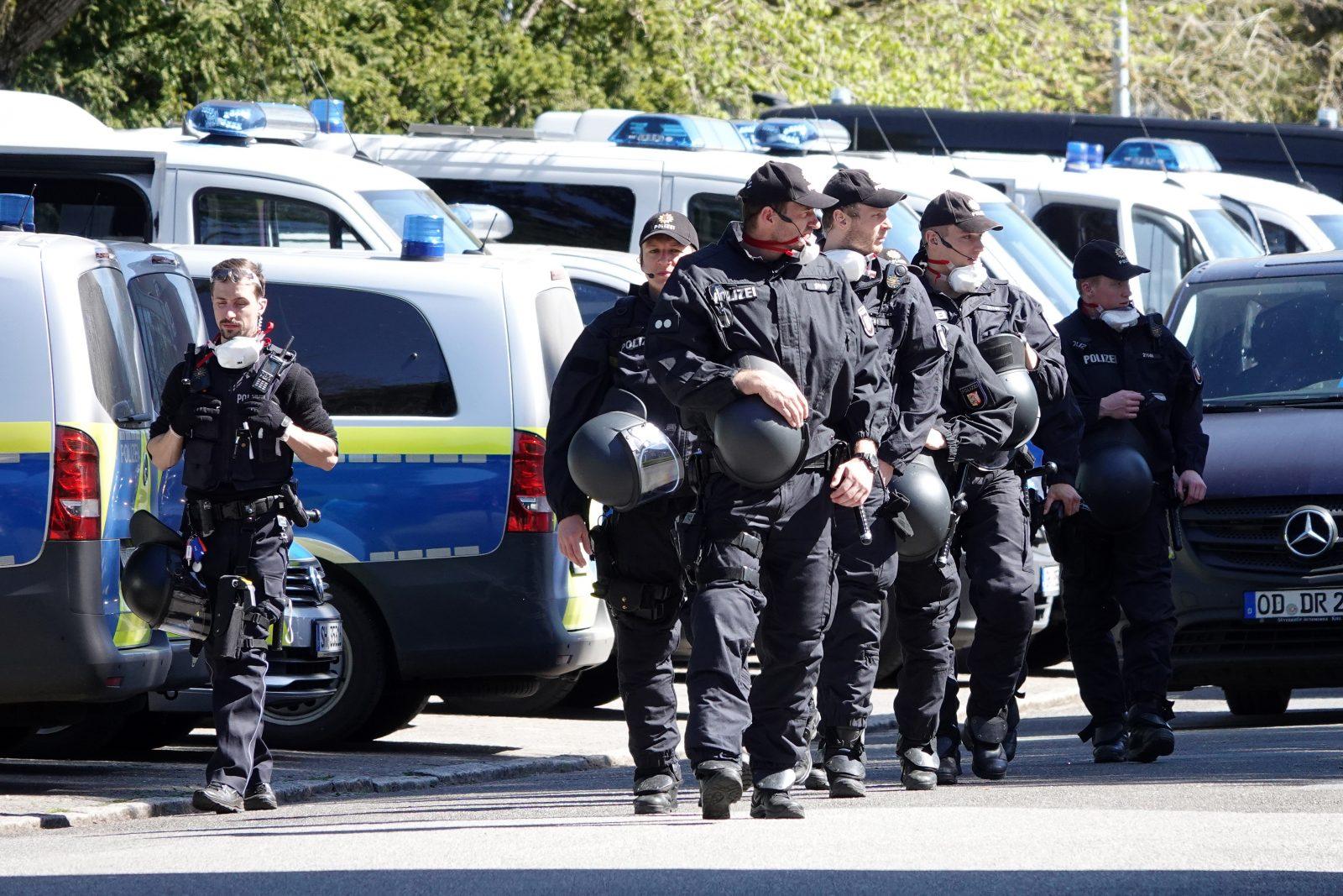 Polizeieinsatz bei Tumultlage