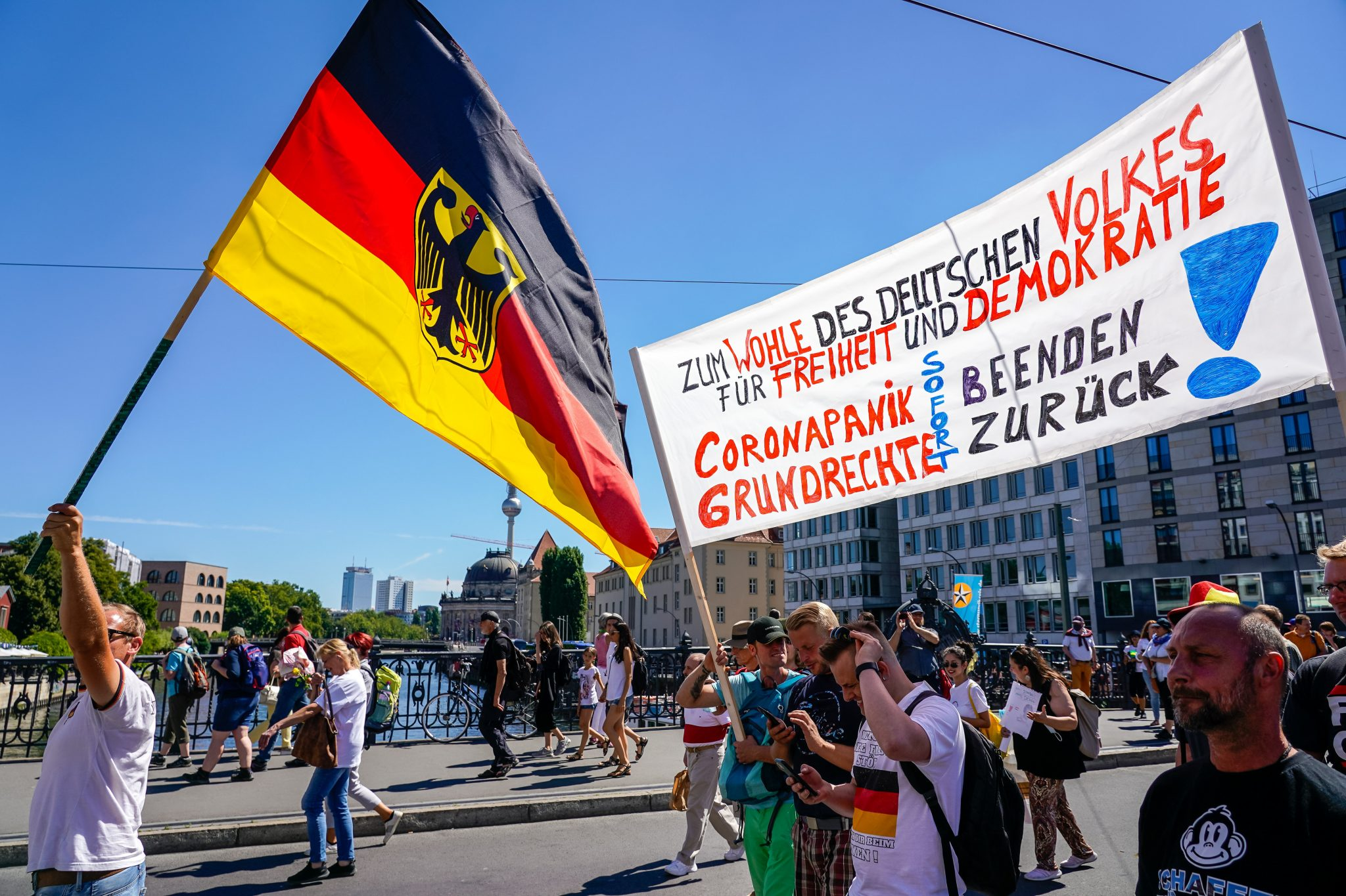 Demonstration gegen Corona-Maßnahmen