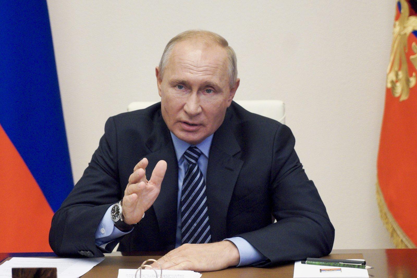 Rußlands Präsident Wladimir Putin warnt ausländische Staaten vor einer Einmischung in Weißrußland Foto: picture alliance / AP Photo