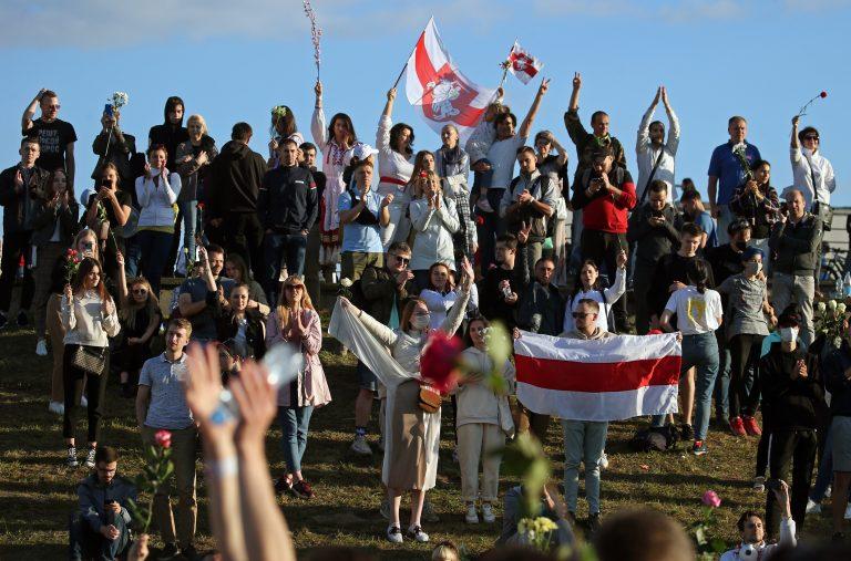 Friedliche Proteste in Weißrußland