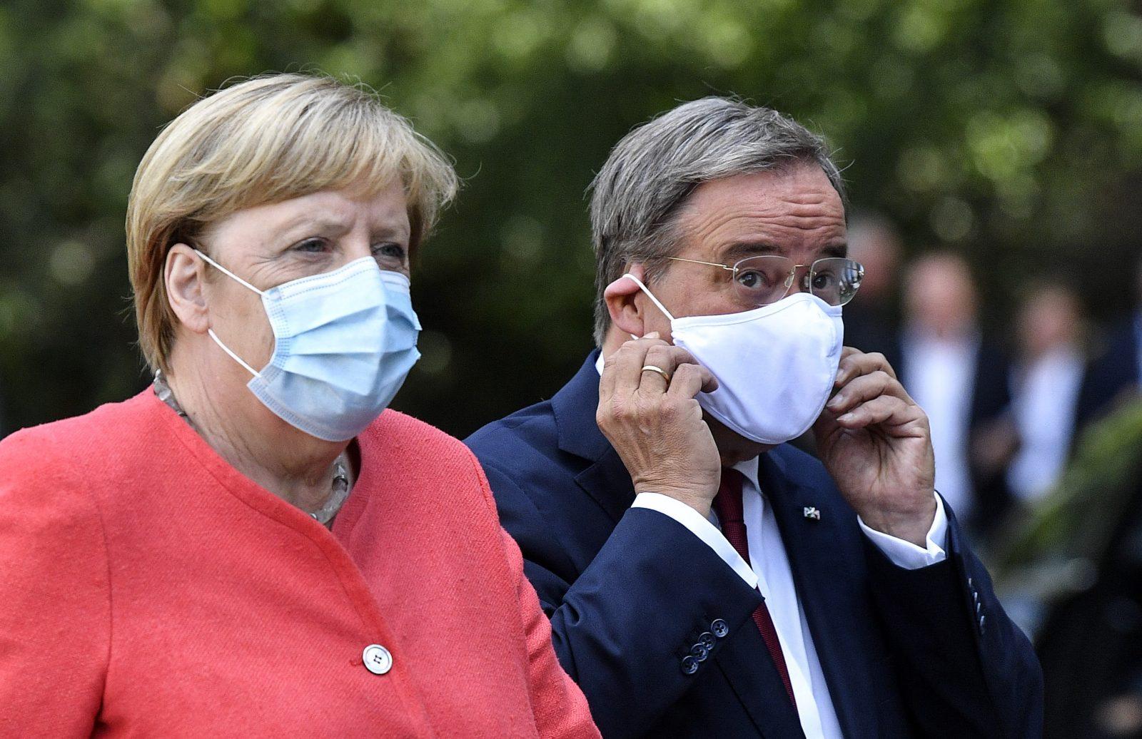 Angela Merkel und Armin Laschet (beide CDU)