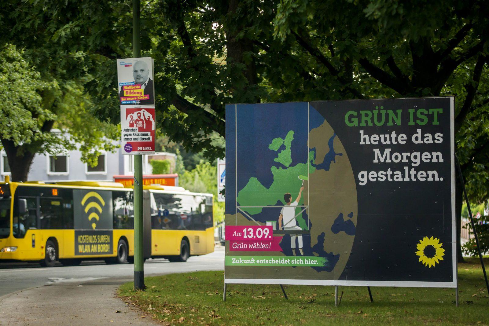 Grünen-Kandidat: Wahlplakate in Nordrhein-Westfalen