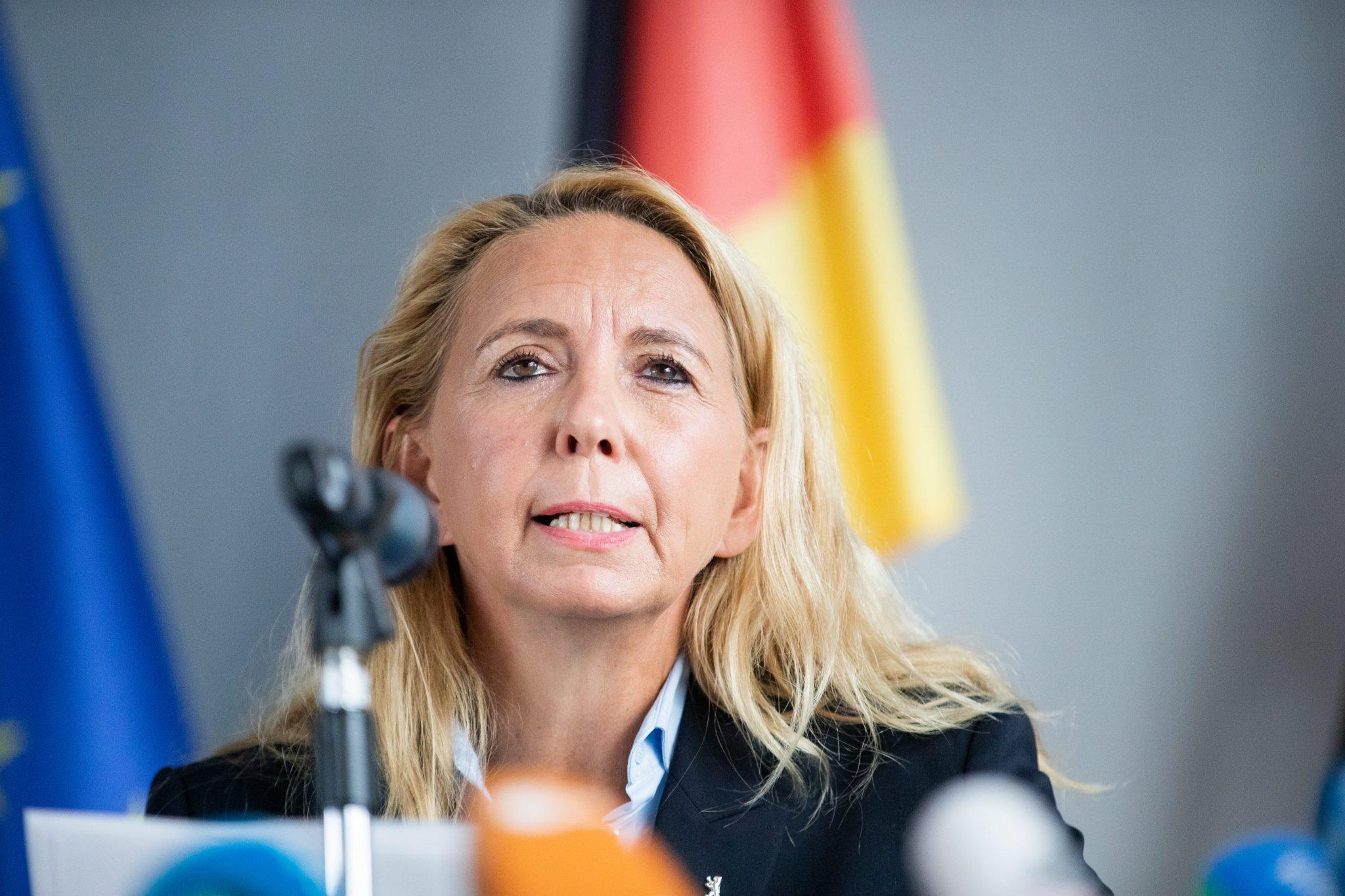 Berlins Polizeipräsidentin Barbara Slowik hatte die Beschwerde gegen das Urteil angekündigt Foto: picture alliance/Christoph Soeder/dpa