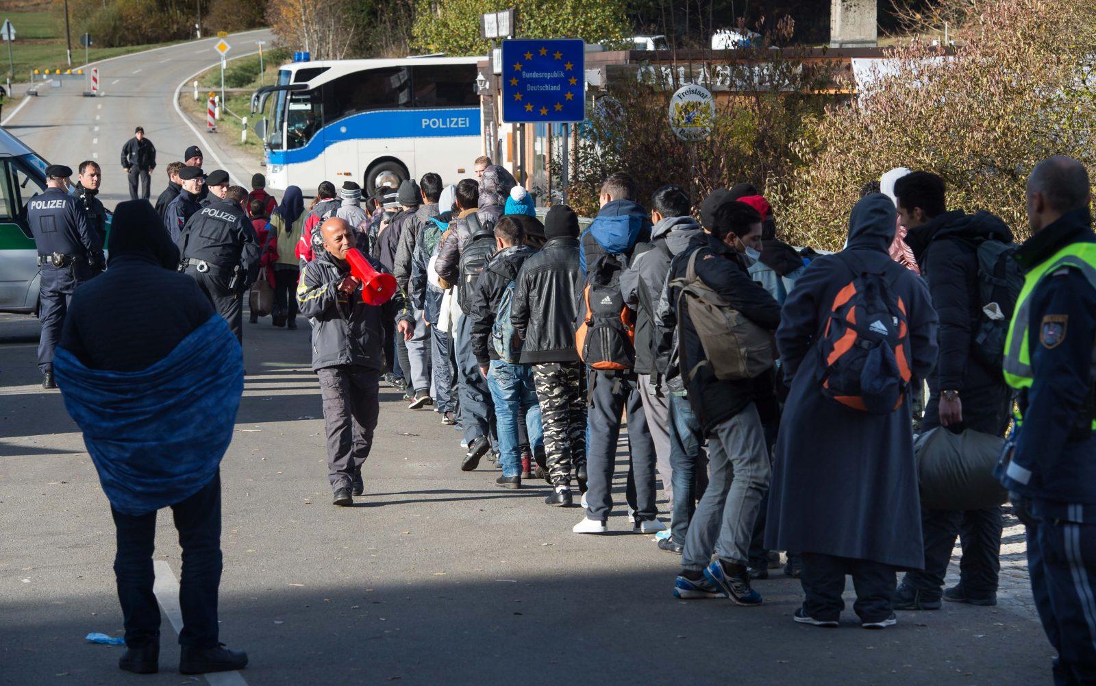 Asylsuchende 2015 an der deutsch-österreichischen Grenze