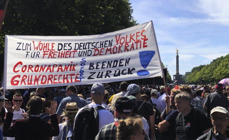 Corona-Demo in Berlin