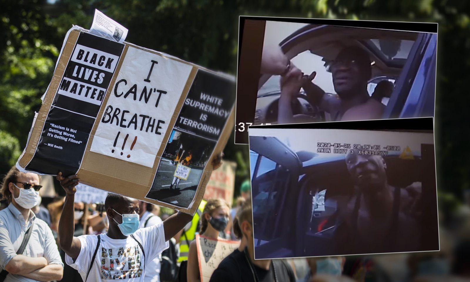 """""""Black Lives Matter""""-Demonstration, Aufnahmen von Bodycams der Polizisten"""