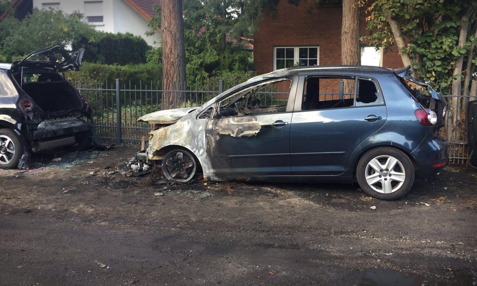 Brandanschlag auf VW von AfD-Abgeordneten Ronald Gläser Foto: Privat