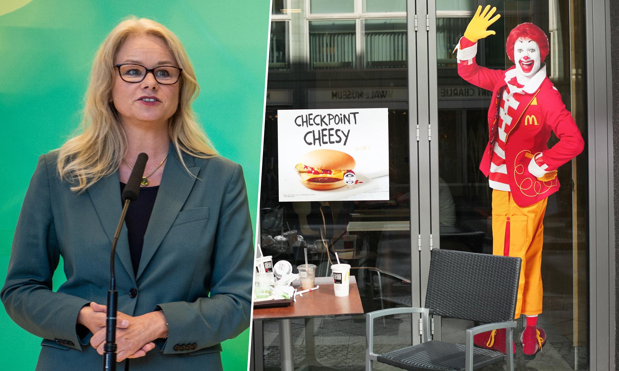 Die Grünen blasen zum Kampf gegen Fast Food-Werbung