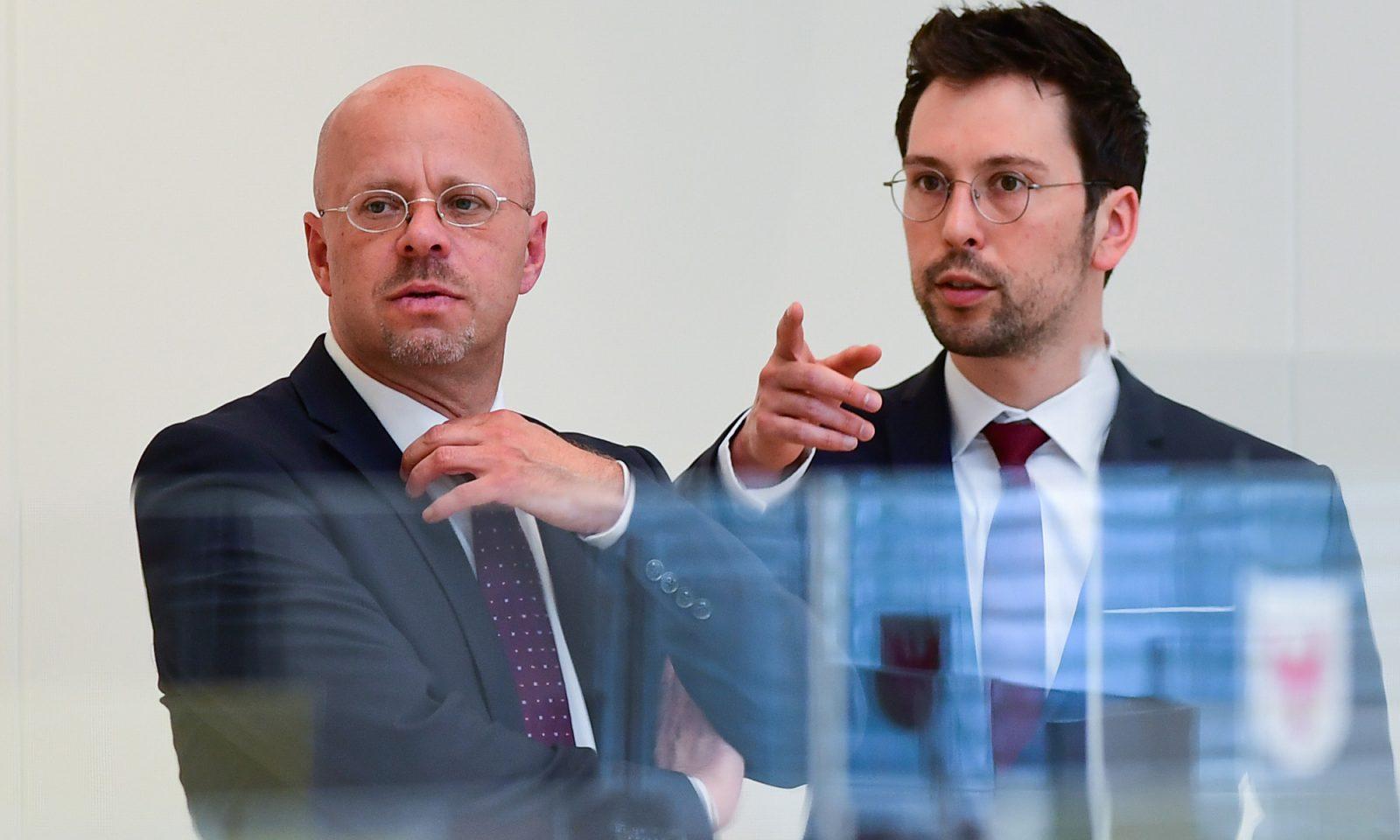 Andreas Kalbitz (l.) und Dennis Hohloch