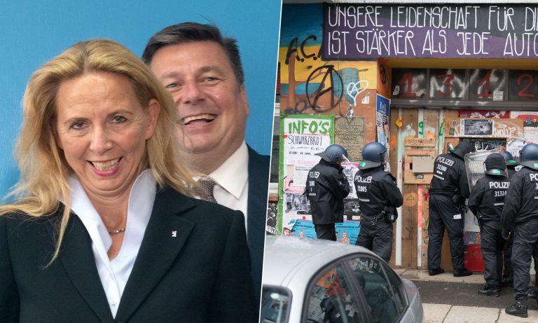 Barbara Slowik, Andreas Geisel (SPD), Rigaer 94