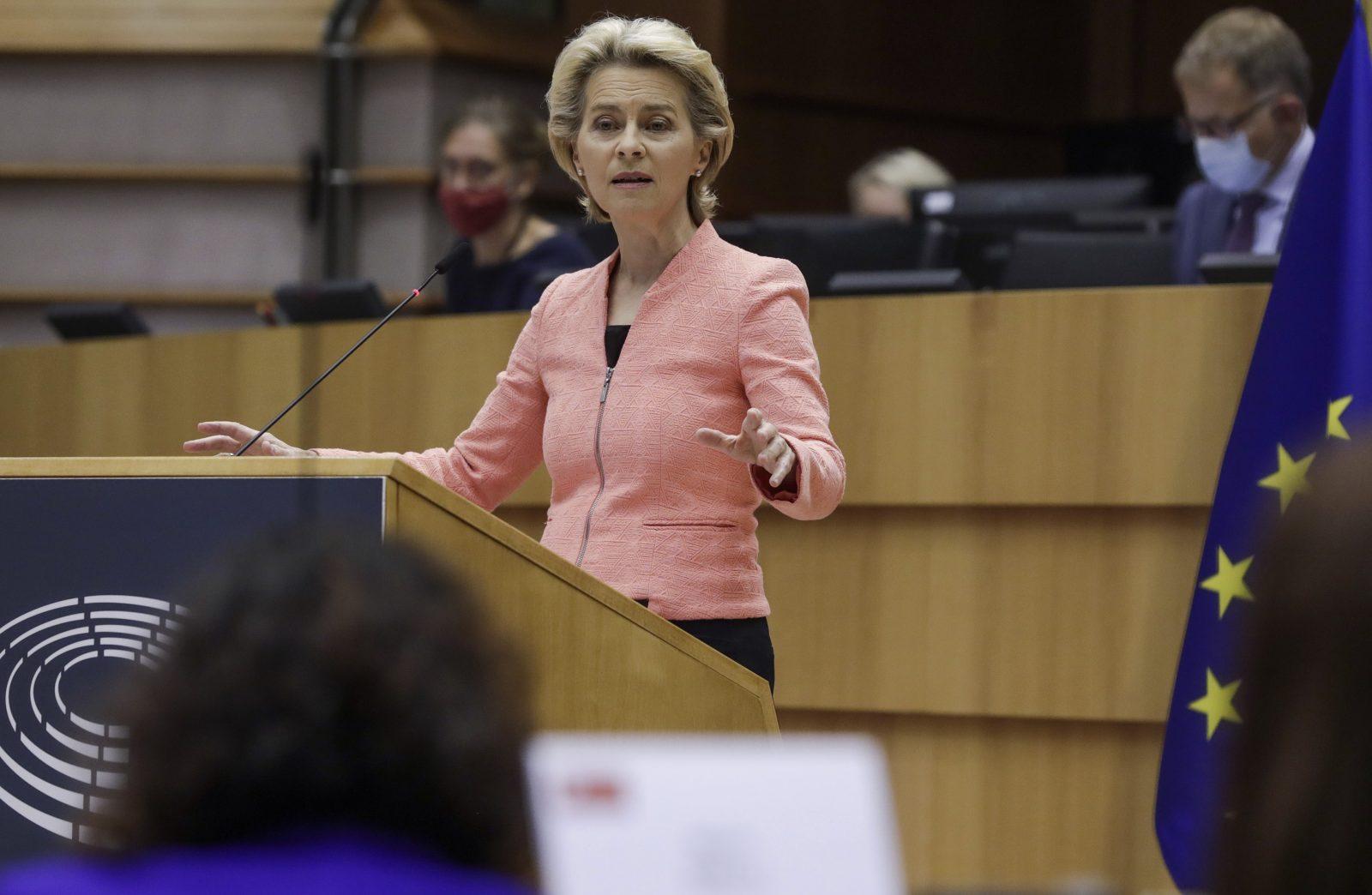 EU-Kommissionspräsidentin Ursula von der Leyen (CDU) will die Klimaziele der EU verschärfen Foto: picture alliance / AP Photo