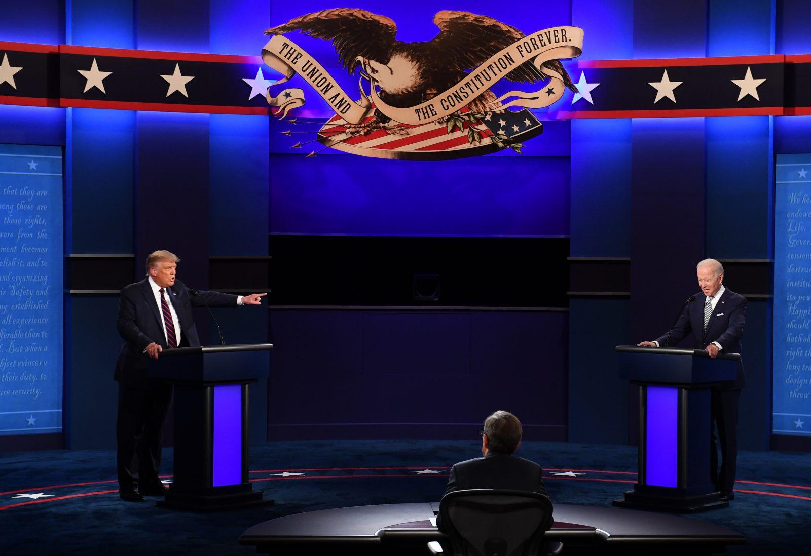 TV-Duell zwischen Donald Trump (l.) und Joe Biden