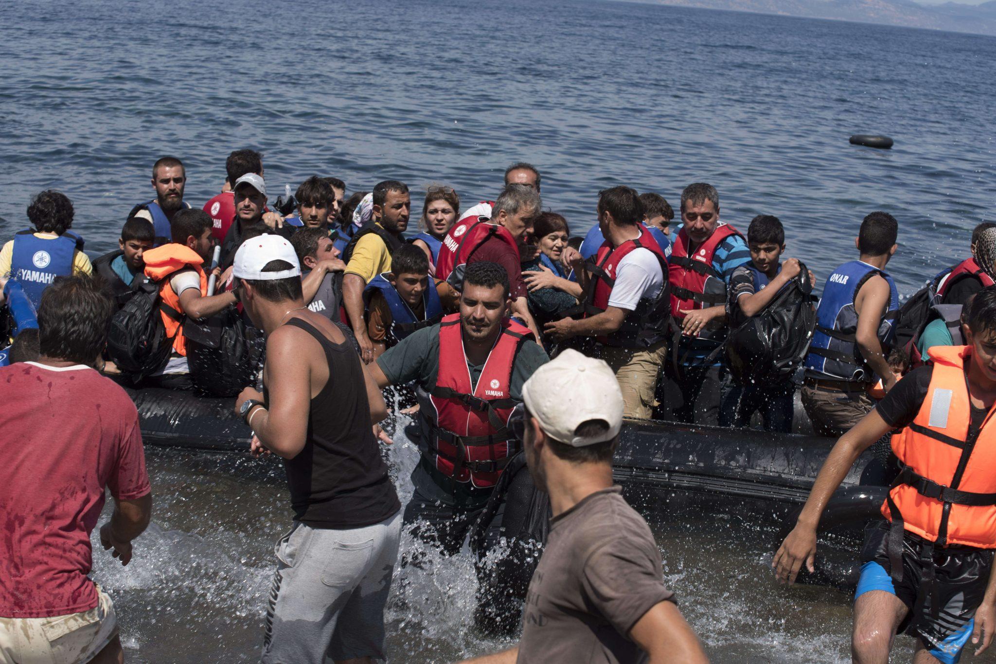 Migranten auf Lesbos: Unterstützt von Schleppern? (Archivbild) Foto: picture alliance / ZUMA Press