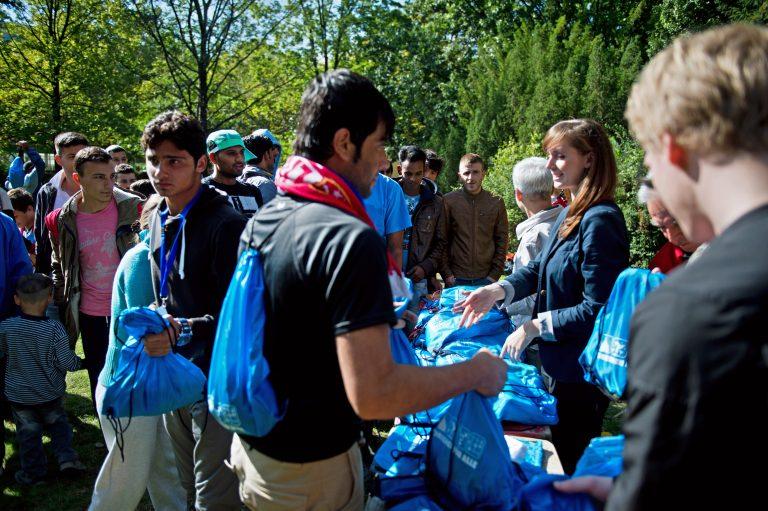 Flüchtlingshilfe 2015 in Dresden