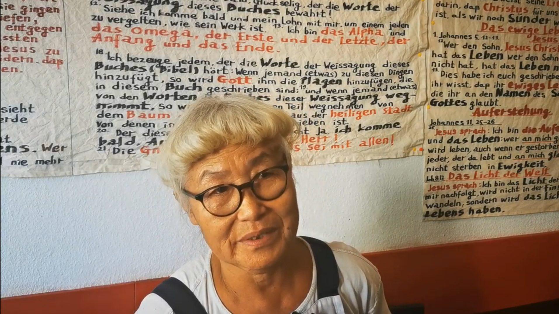 Park Young-Ai: Hat Bibelverse in Restaurant aufgehängt