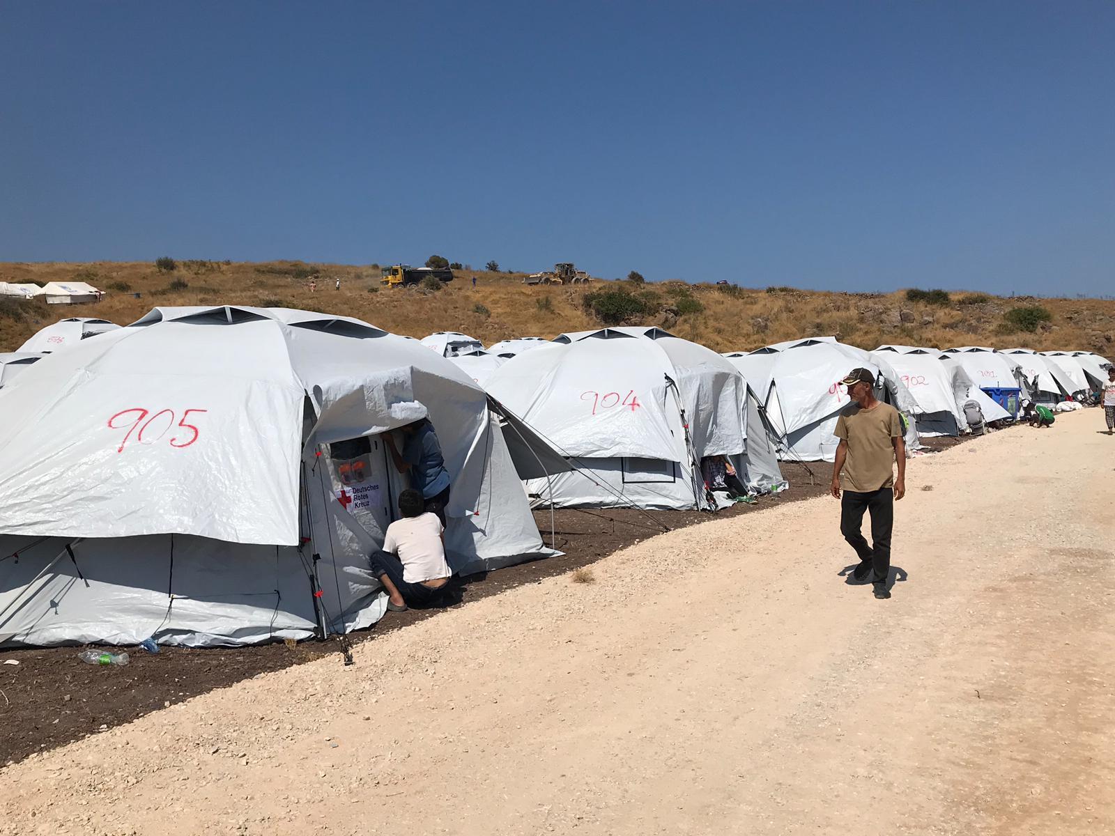 Auf Lesbos entsteht derzeit ein neues Flüchtlingslager Foto: JF