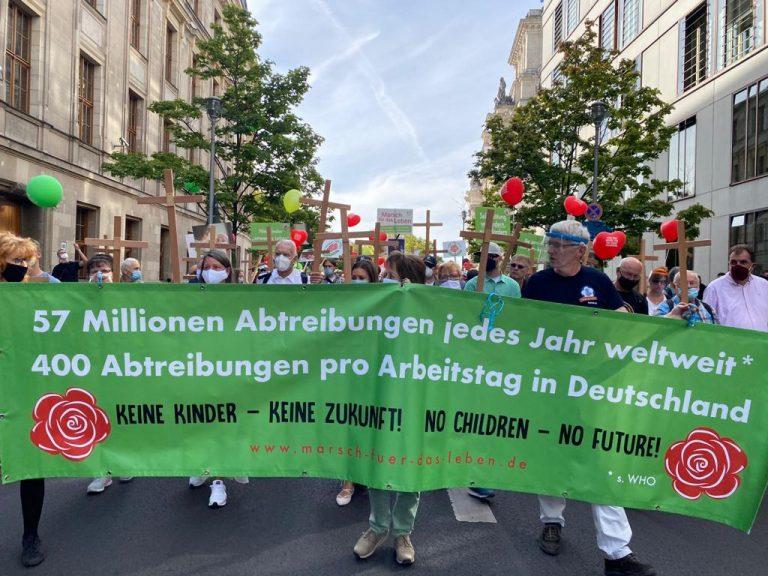 """Teilnehmer am """"Marsch für das Leben"""" demonstrierten in Berlin gegen Abtreibungen Foto: JF"""