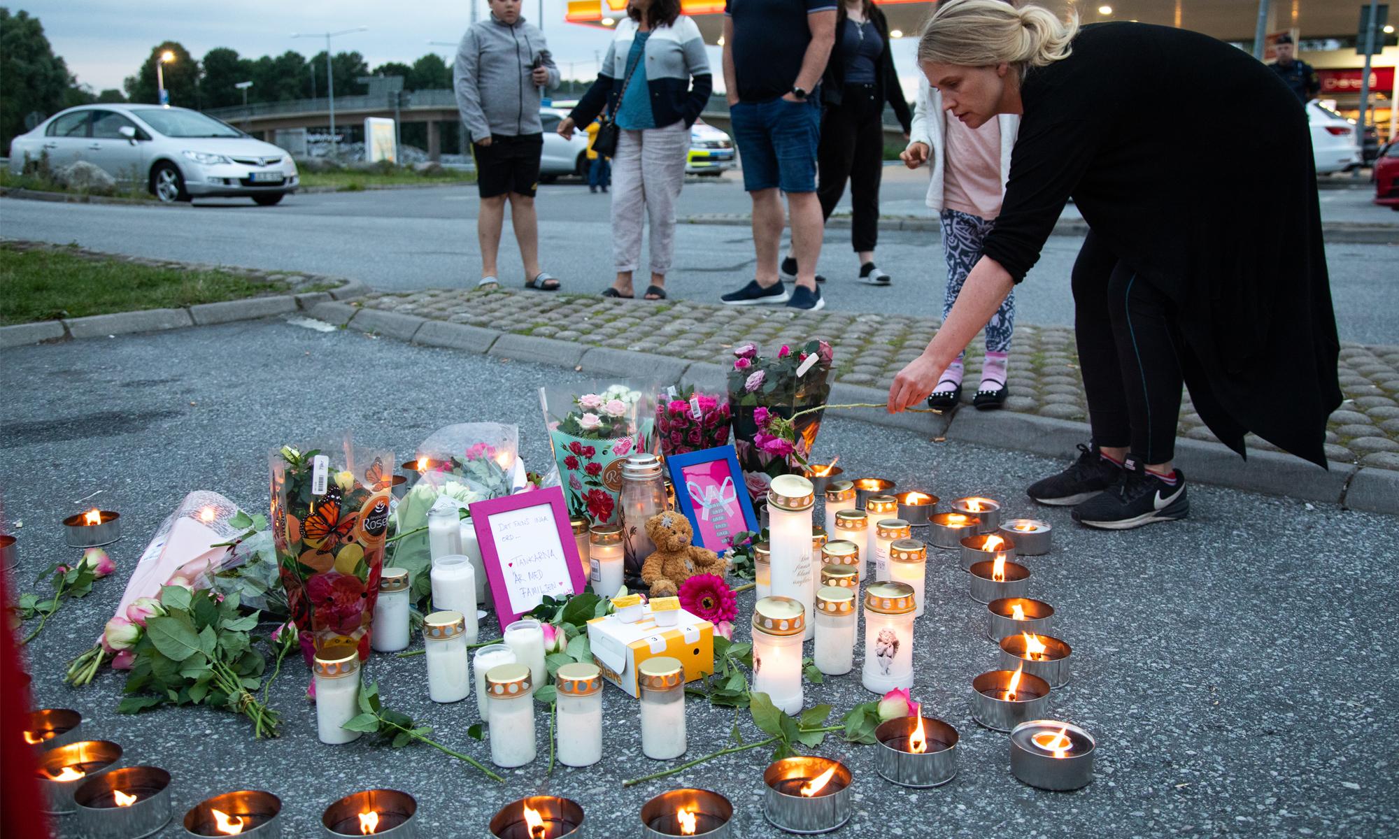 Gedenken für getötetes Mädchen in Stockholm