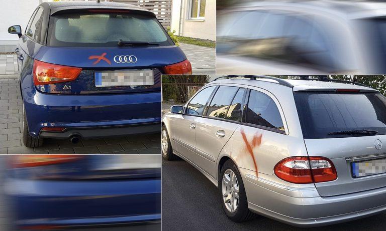 """Autos mit """"Freigabemarkierungen zum Abfackeln"""" versehen"""