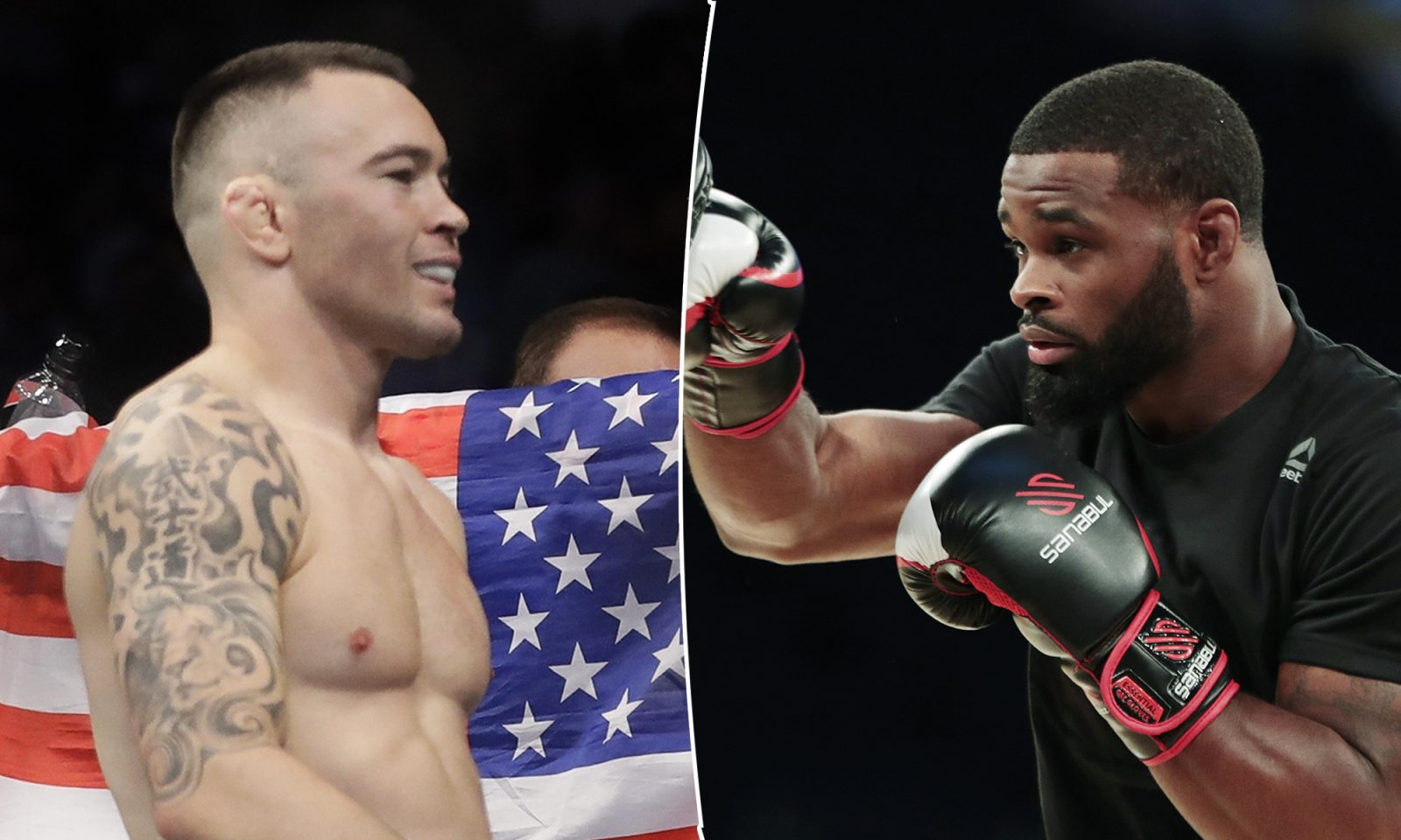 Colby Covington (l.) und Tyron Woodley