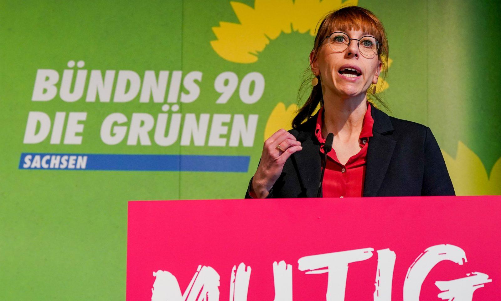 Die Freien Wähler werfen Sachsens Justizministerin Katja Meier (Grüne) Ämterpatronage vor Foto: picture alliance/Peter Endig/dpa-Zentralbild/dpa