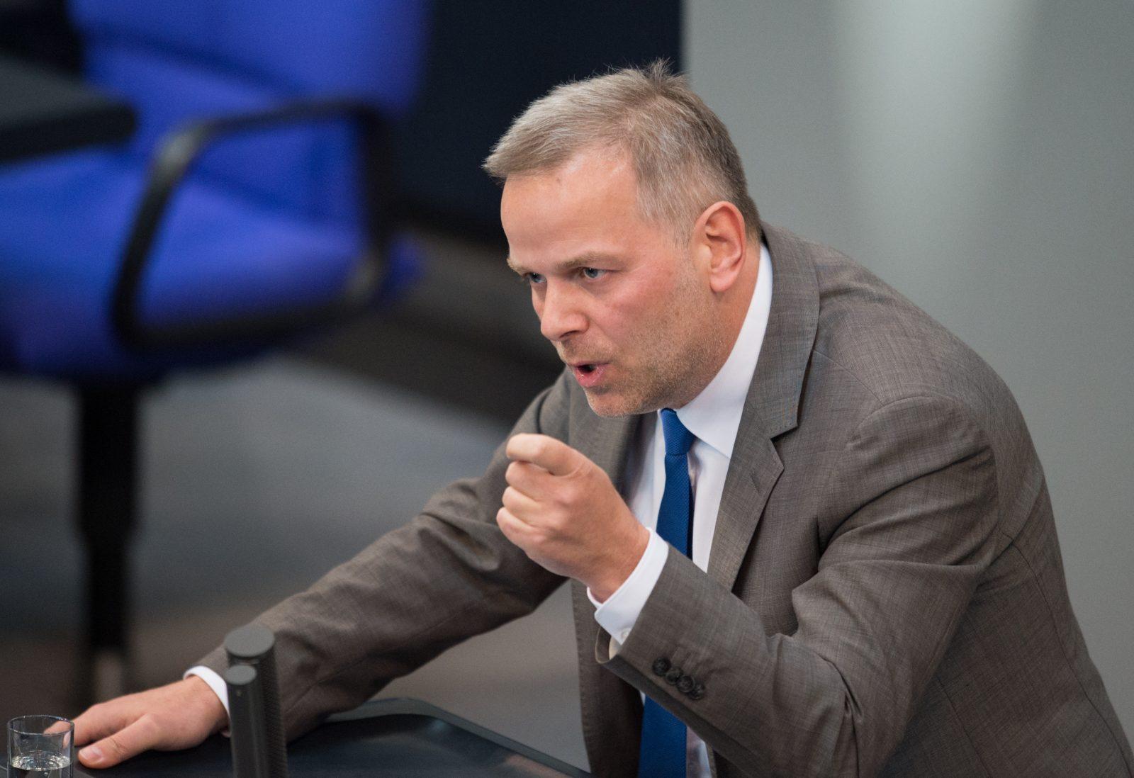 Der Vizechef der AfD-Bundestagsfraktion, Leif-Erik Holm, attackiert die SPD Foto: picture alliance/Annegret Hilse/dpa