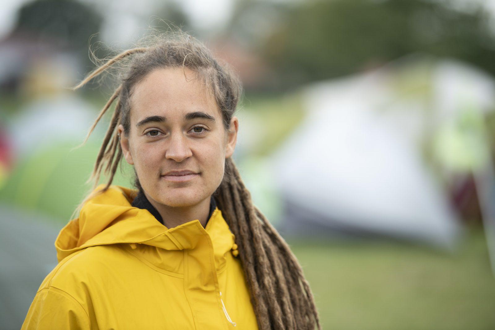 Die Flüchtlingskapitänin Carola Rackete erhält den Kölner Karnevalspreis, der mit 10.000 Euro dotiert ist Foto: picture alliance/Boris Roessler/dpa