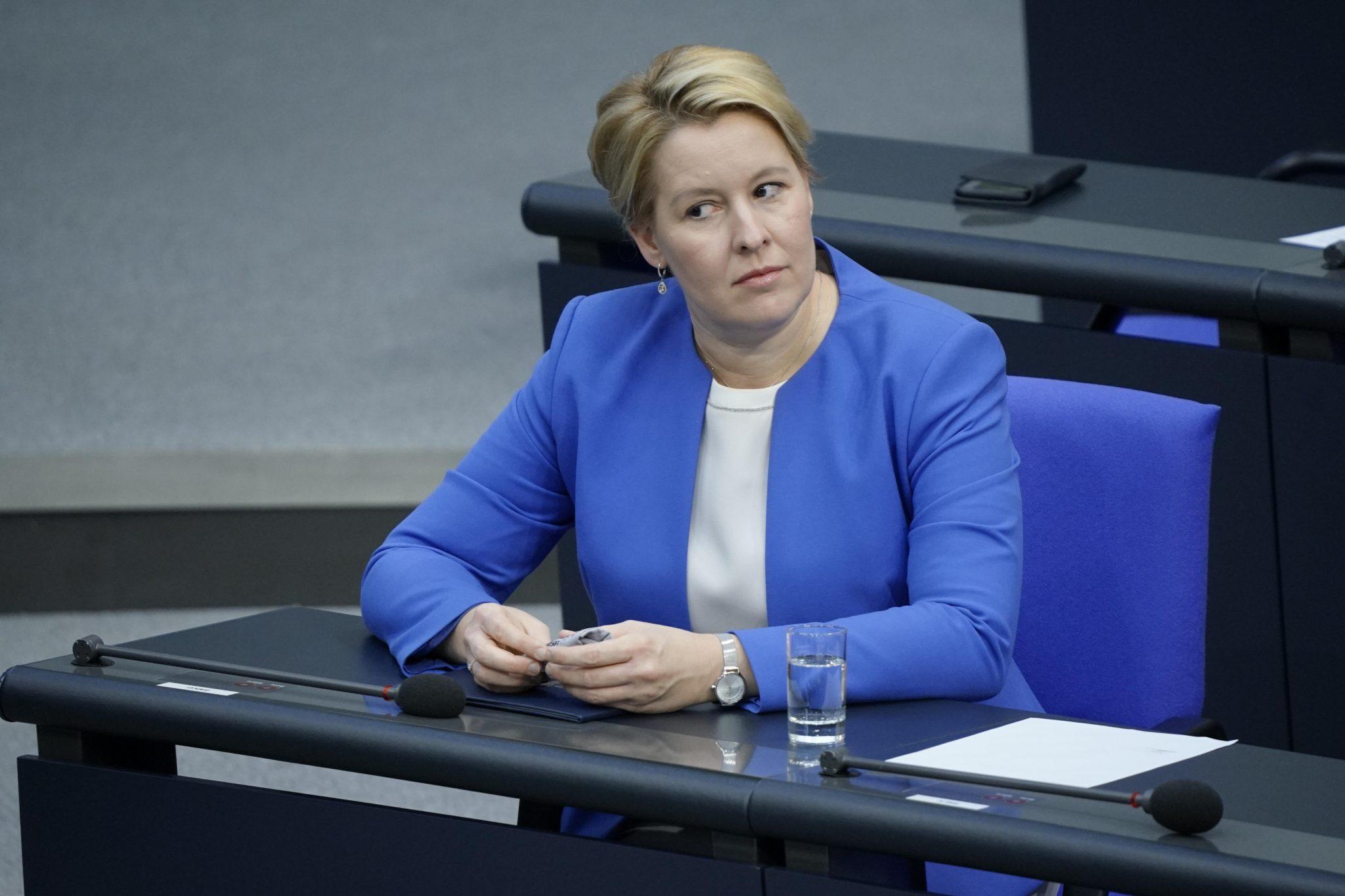 Bundesfamilienministerin Franziska Giffey (SPD)