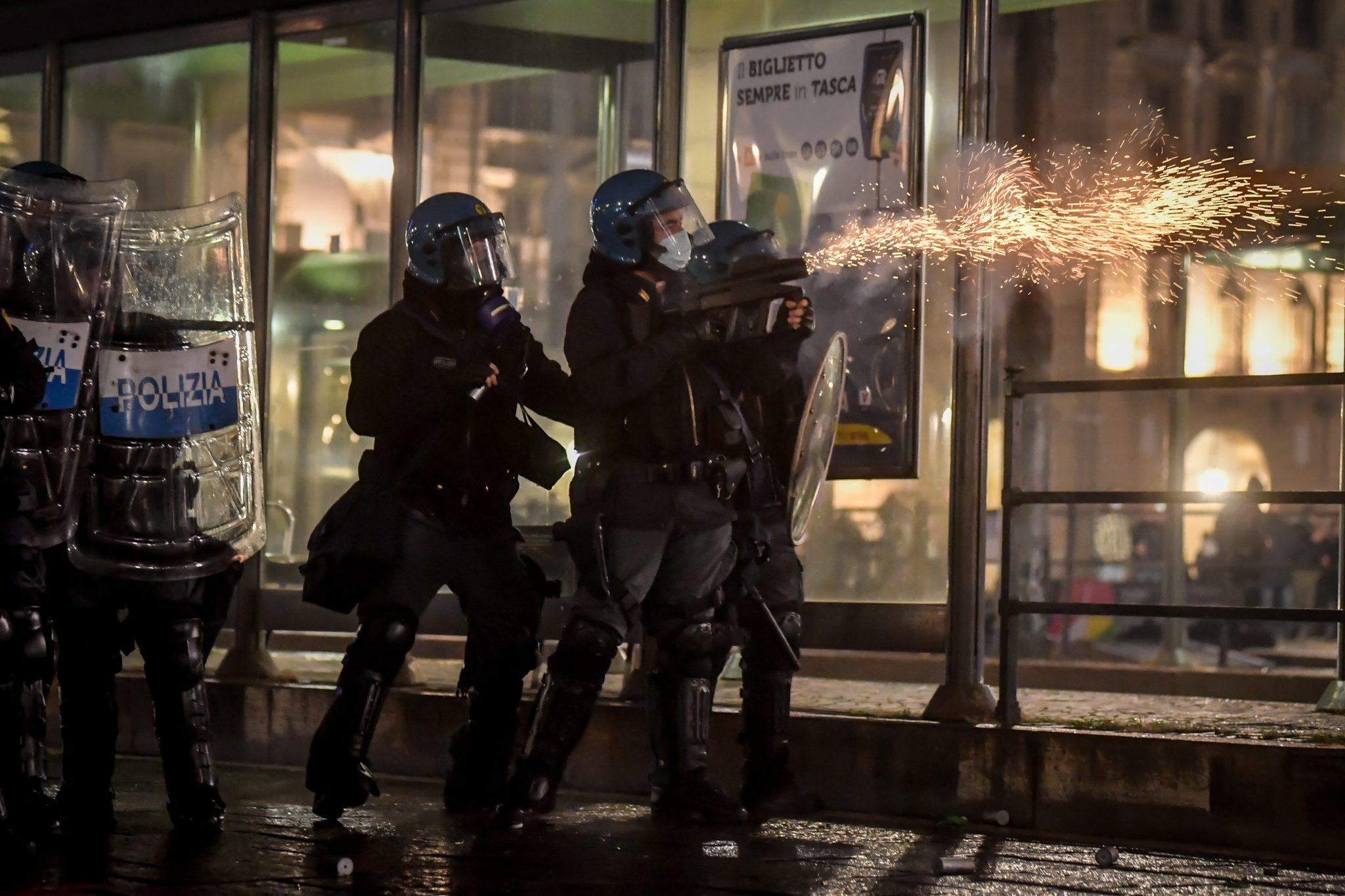Polizeieinsatz in Turin