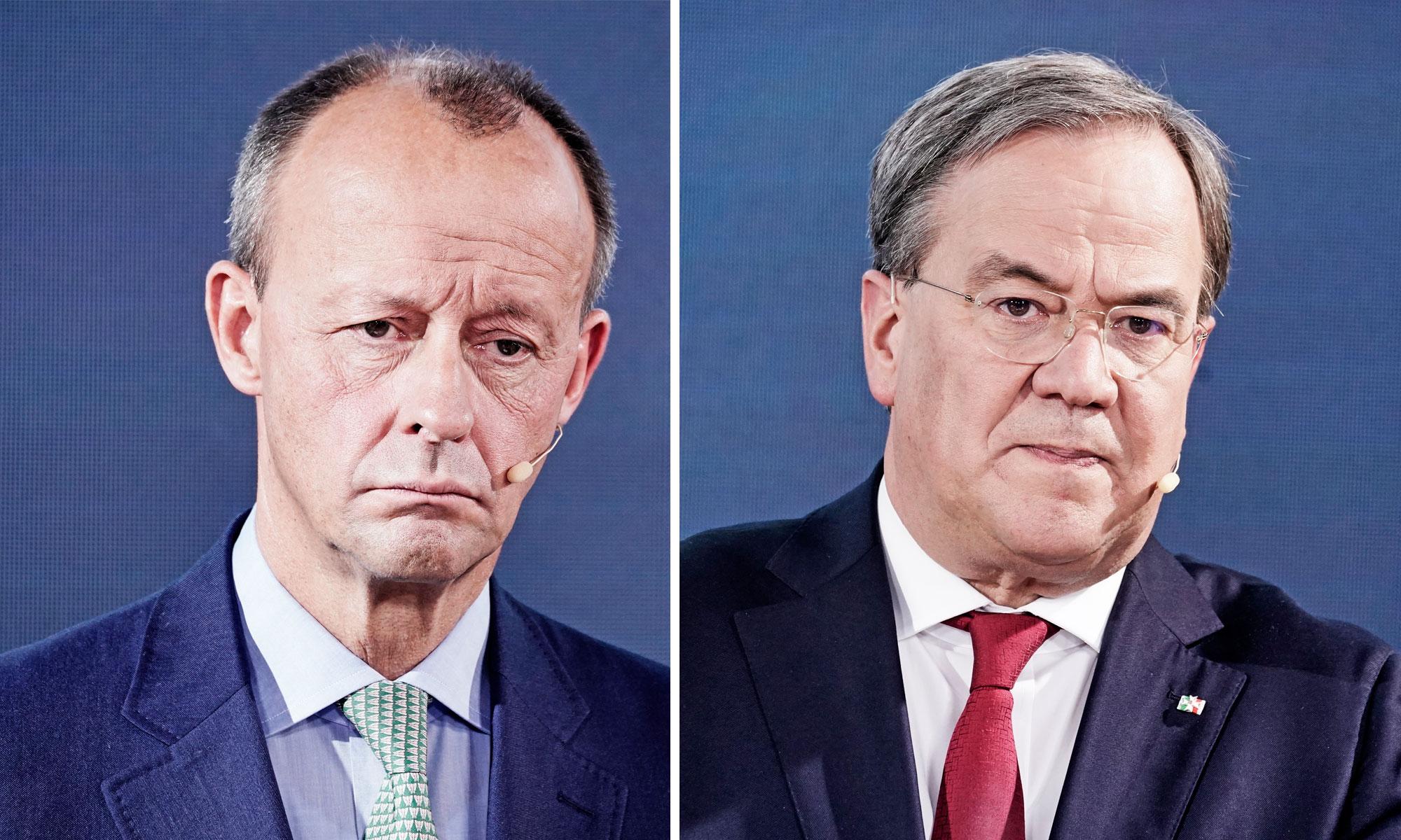 Kandidaten auf den CDU-Vorsitz: Friedrich Merz und Armin Laschet
