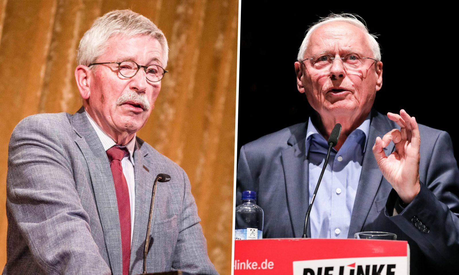 Thilo Sarrazin (l.) und Oskar Lafontaine (Linkspartei)