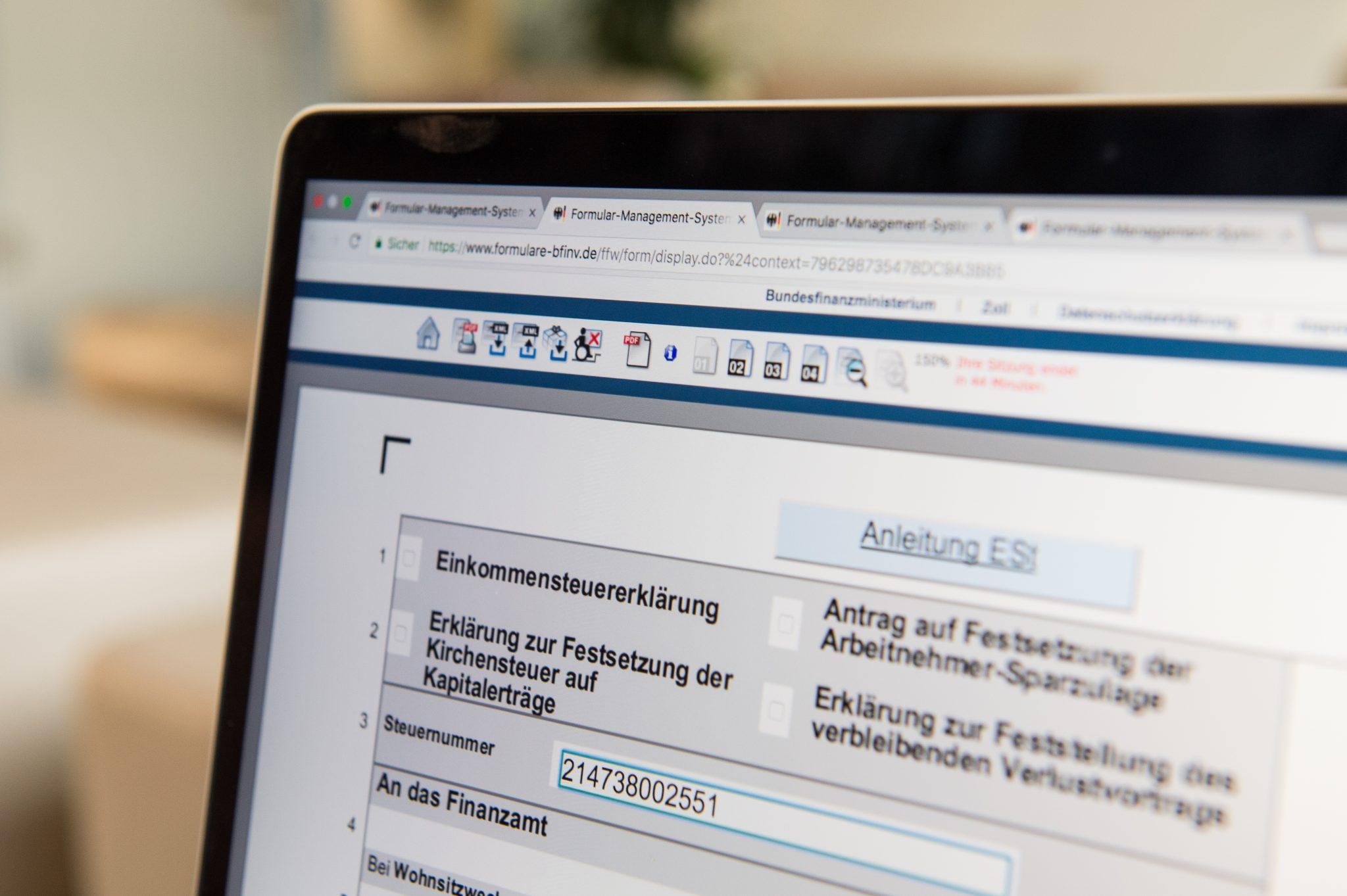 Steuerformular: Steuer-ID wird für Personenkennzahl benötigt