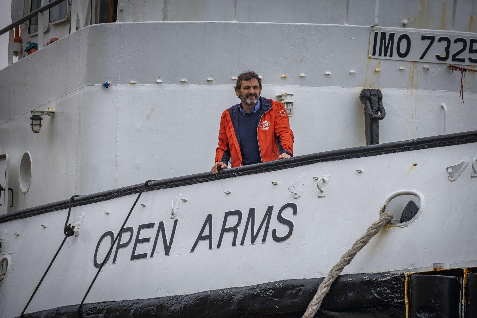 """Òscar Camps auf der """"Open Arms"""""""