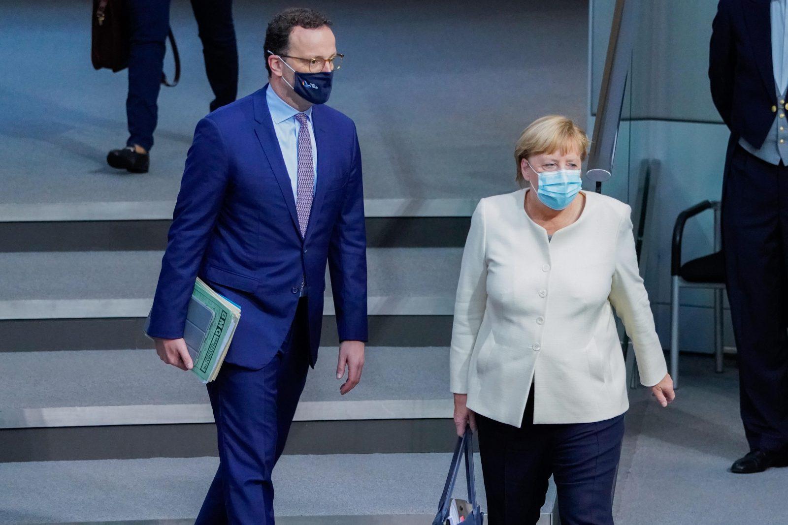 Gesundheitsminister Jens Spahn und Kanzlerin Angela Merkel (CDU)