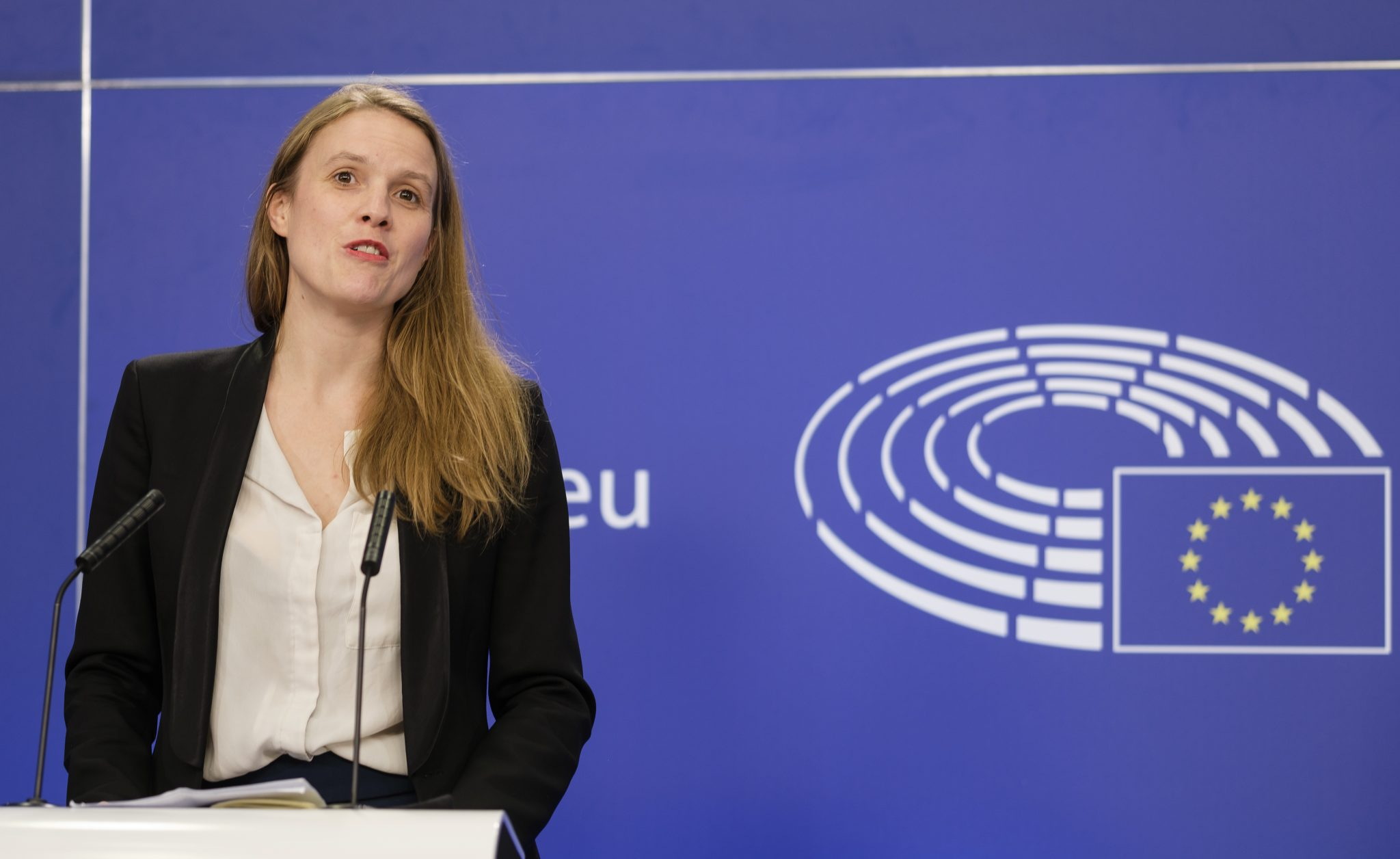 EU-Abgeordnete Terry Reintke (Grüne) in Brüssel: Kritk an polnischem Abtreibungsrecht