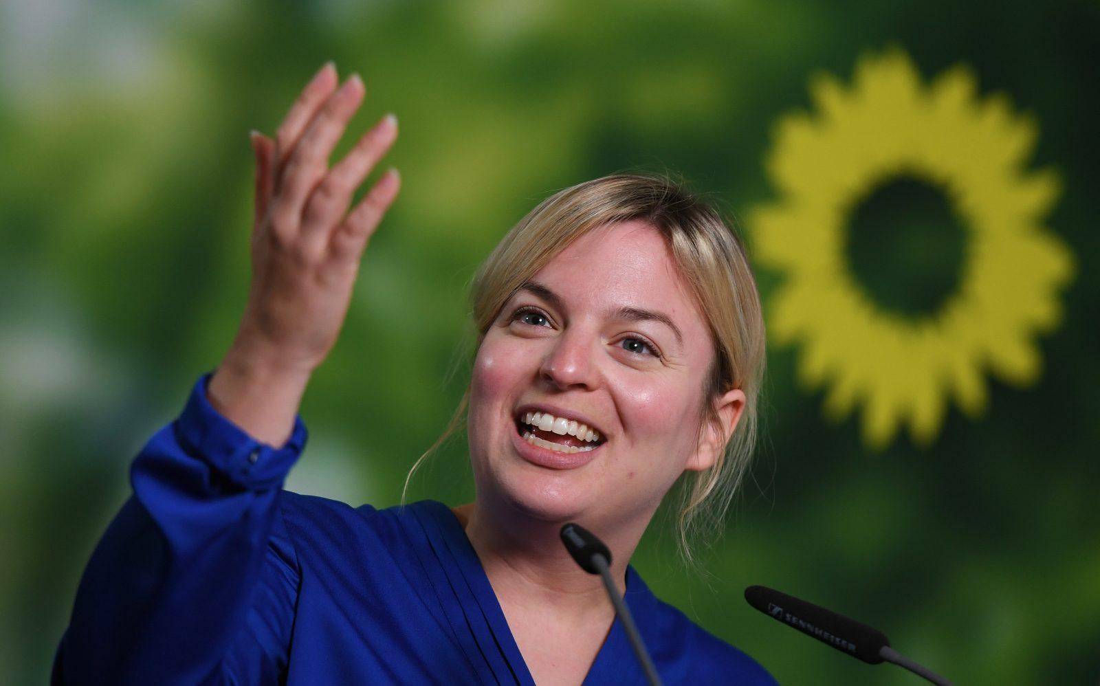Stolze Quotenfrau: Die bayerische Grünen-Fraktionsvorsitzende Katharina Schulze Foto: picture alliance/Angelika Warmuth/dpa